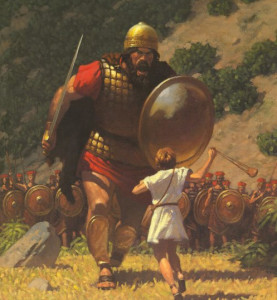 Run toward your Goliath