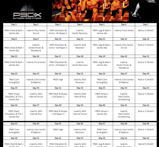 P90X Insanity Hybrid workout sheets Archives - P413Life com