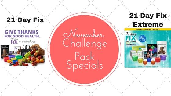 November Challenge Packs Specials