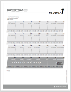 Printables Beachbody P90x3 Worksheets p90x3 worksheets and calendars p413life com calendar